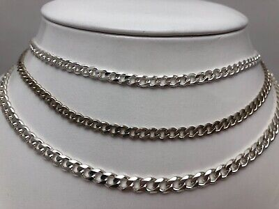 24/'/' Sterling Silver Curb Link Chain Necklace 3.8mm  20/'/' .925 22/'/'