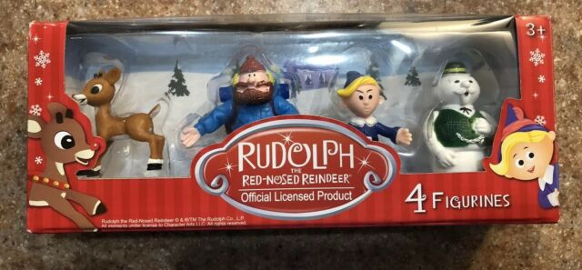 RUDOLPH THE RED NOSED REINDEER 4 FIGURE SET SANTA BUMBLE CLARICE CHARLIE