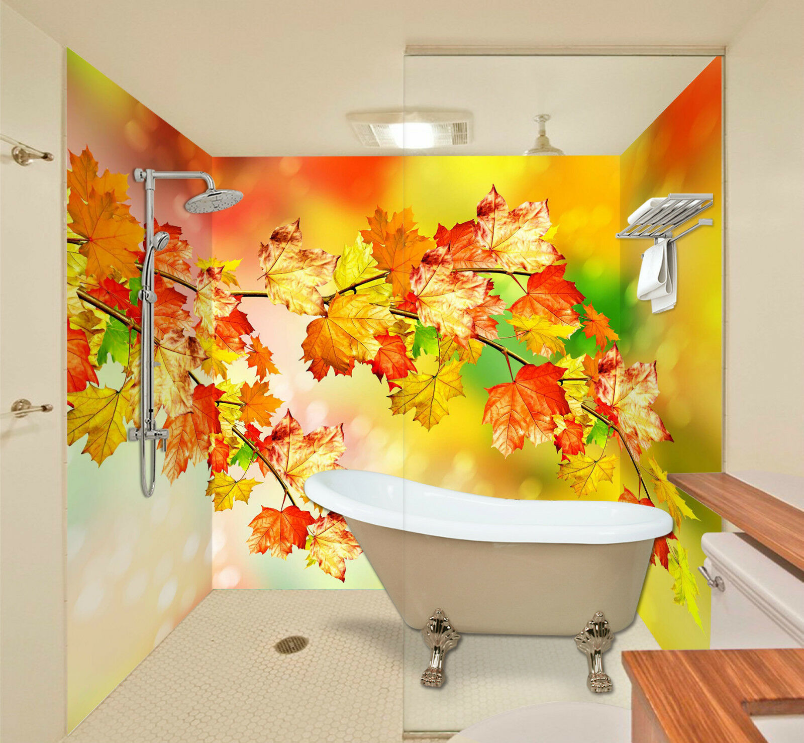 3D Shining Leaves 0017 WallPaper Bathroom Print Decal Wall Deco AJ WALLPAPER CA