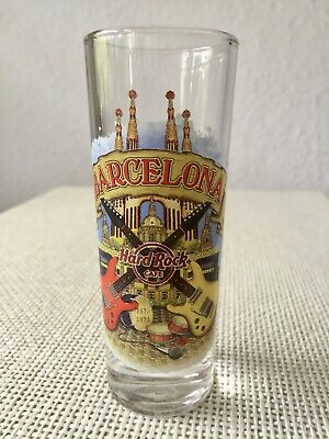 Gelernt Hard Rock Cafe City Shot Glass Schnapsglas Barcelona 2014