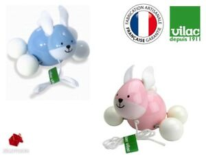 Vilac Wooden Pull Toy Rabbit Ecological Green Birth Gift Girl Boy Made In France Cfodasps-07175833-994274559