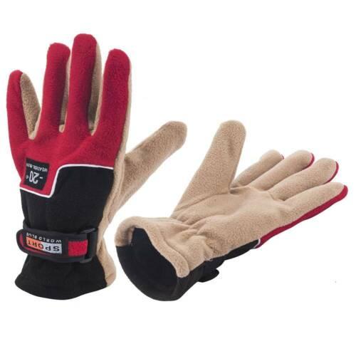 Winter Polar Fleece Soft Warm Gloves Mens Camping Cycling Walking Outdoor Travel