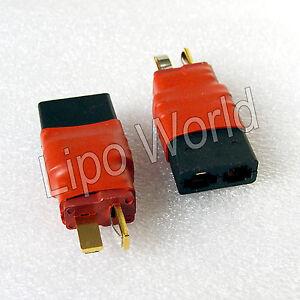 Deans-T-Stecker-auf-Traxxas-Buchse-Hochvoltstecker-Adapter-Lade-Kabel-LiPo-Akku