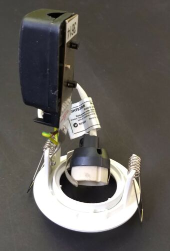 Satin Chrome Fixed Gimbal 20W 240V GU10 Halogen Downlight Kits White
