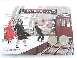 2013-British-London-Underground-BU-2-Two-Pound-2-Coin-Set-Folder-Unc