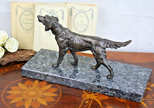 Art Deco 1930 French Bronze Dog German Sheperd Marble Base Utmost In Convenience Periods & Styles