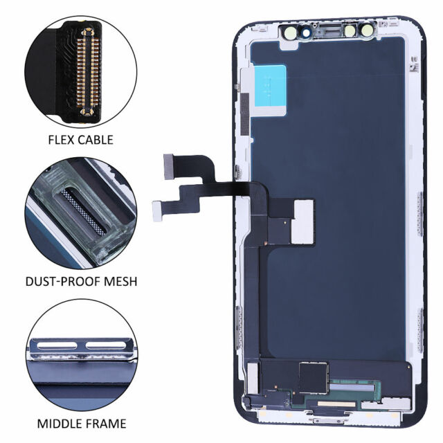 """For iPhone X 5.8"""" Display LCD Touch Screen Digitizer Assembly Replacement Black"""