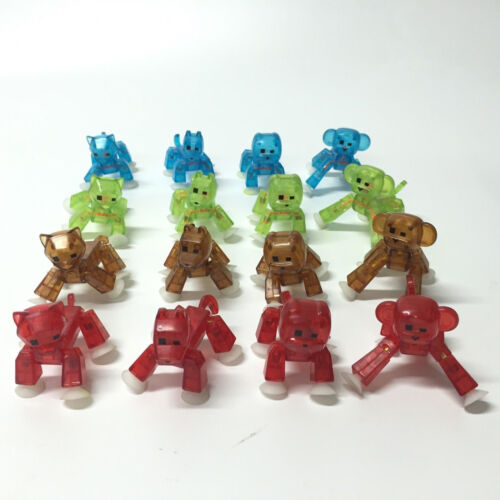 Lot Zing Stikbot different styles easy to pose figurines Pets//Orange//Clear//Blue