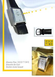 Oblongo-Reloj-osco-time-Bonito-Estilo-forma-Unisex-RELOJ