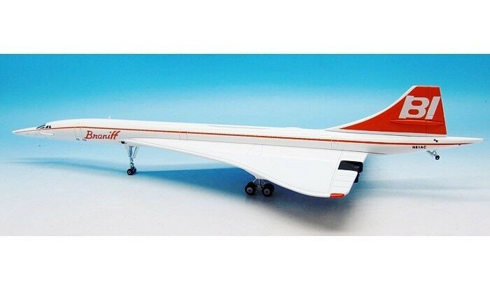 Inflight 200 IFCONCBRN001 1/200 Concorde Braniff N81ac con Supporto
