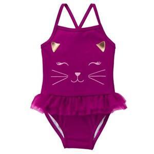 8e41f483ca Gymboree Girl Swim 1-Piece Cat Tutu Swimsuit 6 12 18 24 Months UPF ...