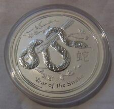 2013 Year of the Snake Australian Lunar 2 Series 5 Oz Silver Coin, BU, Mint