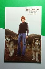 BEN KWELLER ON MY WAY WOLVES DOGS PHOTO MUSIC FLYER 4X6 POSTCARD SM POSTER