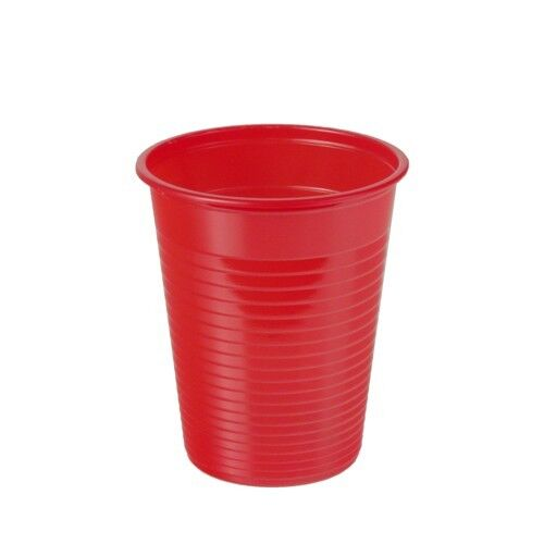 Recipientes para bebidas 100 unidades 180 ml rojo vasos de plástico einwegbecher de papstar