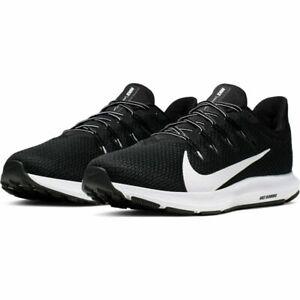 Dettagli su Scarpe da running uomo Nike Quest 2 CI3787 002 Nero Bianco mesh