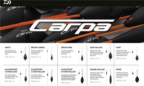 Daiwa Carpa Silver Pole Float Range All Sizes