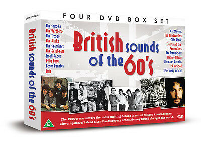 BRITISH SOUNDS OF THE 60s - 4 DVD BOX SET - CILLA BLACK LULU & MANY MORE