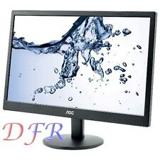 "MONITOR LED 22"" AOC PER PC DESKTOP 21,5"" E2270SWN NERO VGA 16:9"