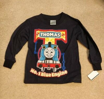 Authentic THOMAS THE TANK ENGINE Glow In The Dark Youth T-Shirt Navy 2T-7 NEW