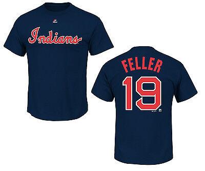 Weitere Ballsportarten Freundlich Mlb Baseball T-shirt Cleveland Indians Bob Feller 19 Navy Einen Einzigartigen Nationalen Stil Haben