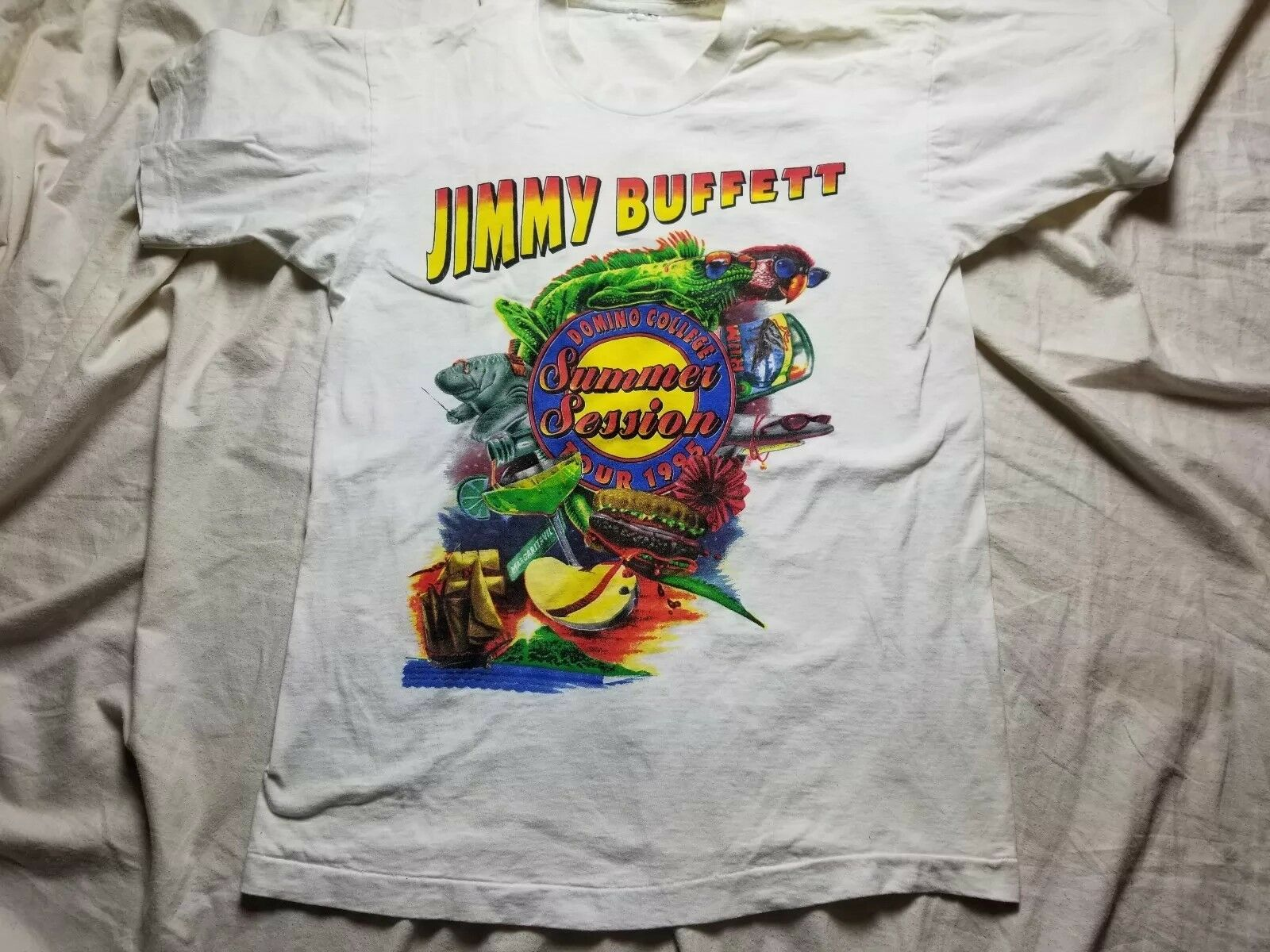 Vintage Jimmy Buffet DOMINO COLLEGE TOUR 1995 DOMINO COLLEGE