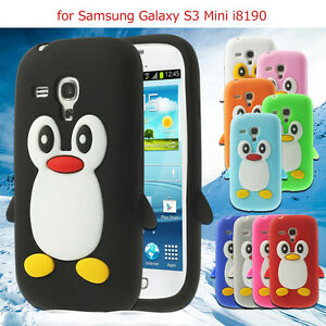 watch 213c2 5c66a Details about Samsung Galaxy S3 SIII Mini i8190 Cute Penguin Silicone Soft  Phone Case Cover