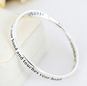 925-Sterling-Silver-Filled-Infinity-Friendship-Bracelet-Bangle-Good-Quality-Gift