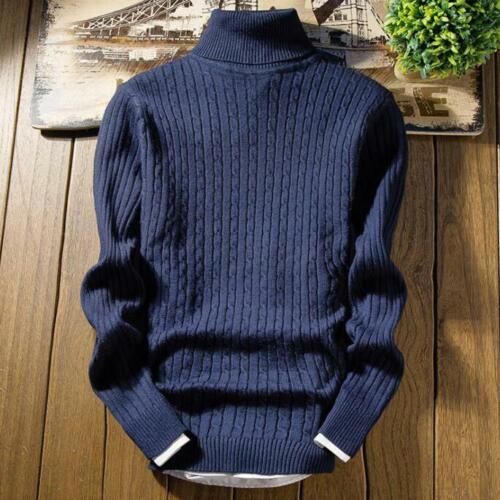 Herrenmode Kurz Pulli Sweater Rollkragen Pullover 6 Farben Business Student Warm