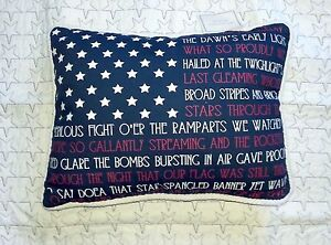 STAR SPANGLED LIBERTY PILLOW RED PATRIOTIC JULY TOSS ACCENT CUSHION