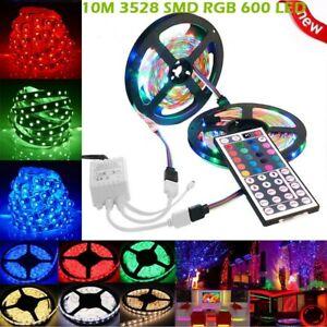 3528-RGB-LED-Tira-Luces-Cinta-de-cambio-de-color-debajo-de-armarios-Iluminacion