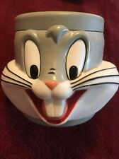 Bugs Bunny Mug Cup Plastic 3D Warner Brothers 1992 Looney Tunes