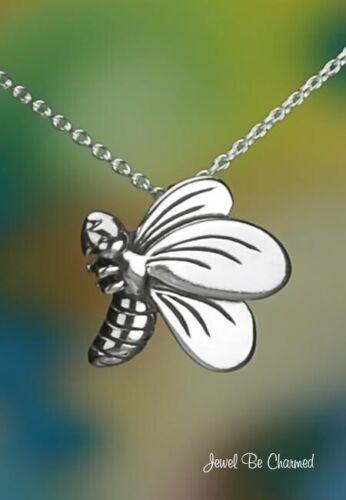 "Sterling Silver Brillant Flying Bee Pendentif ou Collier en longueur 16-24/"" Solid .925"