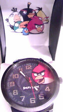 ANGRY BIRDS WATCH BLACK RUBBER STRAP