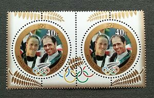 1996-New-Zealand-Sports-Atlanta-Olympic-Games-Gold-Medal-Winners-2v-Stamps-MNH