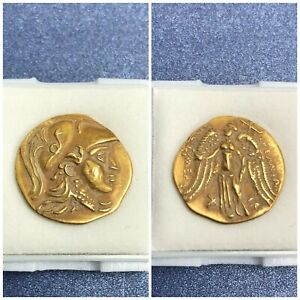 4-29g-Ancient-GREECE-Gold-Coin-22K-ALEXANDER-THE-GREAT-Rare