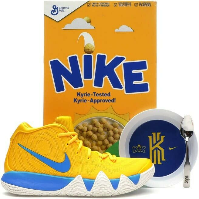 """LIMITED Kyrie 4 Cereal Pack """"KiX"""" With Special Collector's Box Men's Size 11"""