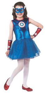 new-Captain-America-American-Dream-Costume-Child-girl-large-12-14