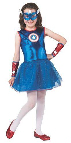 new Captain America American Dream Costume Child girl large 12