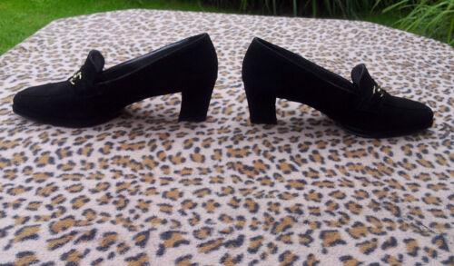 Unido vintage Eu Tamaño cuero Clarks 6 Zapatos negro Reino de de 39 ante 8HdwqAd