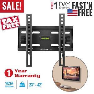 Flat-TV-Wall-Mount-Bracket-15-Tilt-For-23-26-27-32-37-40-42-inch-LED-LCD