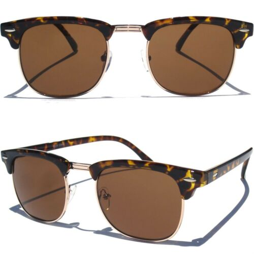 Classic Half Frame Sunglasses Classic Vintage Inspired Browline Retro Fashion