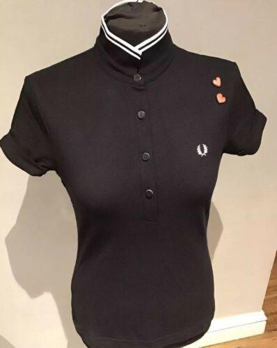 SPECIAL OFFER Black /& White UK10 Fred Perry Amy Winehouse Shirts