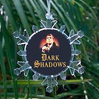 Dark Shadows Snowflake Barnabas Collins Blinking Holiday Christmas Tree Ornament