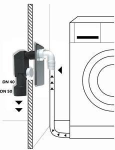 Up Sifon Waschmaschine Spülmaschine Ablauf Ablaufschlauch