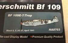 HOBBY MASTER HA8704 1//48 BF 109E-7 Tropical Black Chevron I//JG 27 Franzisket