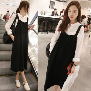 Korean Style Women S Retro Style Fashion Suspender Skirt Long Dress
