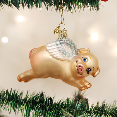 "OLD WORLD CHRISTMAS FLYING PIG ""WHEN PIGS FLY"" CHRISTMAS ..."