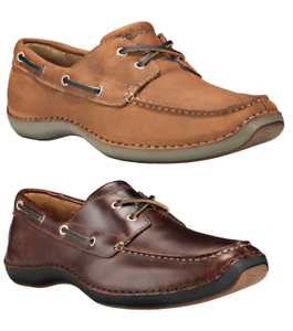 Timberland-Mens-Annapolis-Handsewn-Leather-Boat-Shoes-Smooth-Brown-Med-Brown