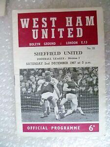 1967 WEST HAM UNITED v SHEFFIELD UNITED 2nd Dec League Division One - London, United Kingdom - 1967 WEST HAM UNITED v SHEFFIELD UNITED 2nd Dec League Division One - London, United Kingdom