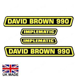 David Brown 990 selectamatic Tractor DECAL set